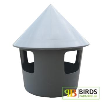 belgische taubentr nke aus kunststoff 2 liter grau. Black Bedroom Furniture Sets. Home Design Ideas