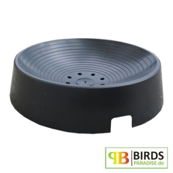 nistschale f r tauben aus kunststoff 18cm schwarz. Black Bedroom Furniture Sets. Home Design Ideas